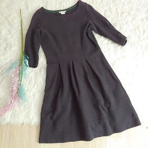 Boden Dark Grey Fit and Flare Dress